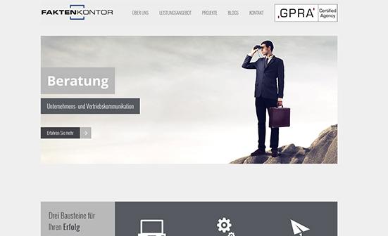 aspector betreut Faktenkontor in allen SEO-Belangen und sorgt für einen Website-Relaunch