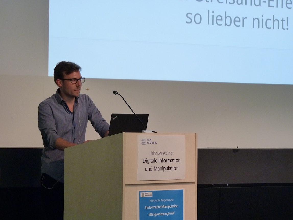 Bilder vom Vortrag  an der Hochschule für Angewandte Wissenschaften Hamburg