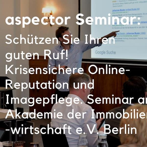 aspector reputation seminar bba berlin