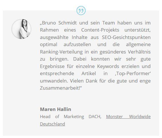 Feedback Jobportal Monster.de